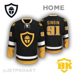Las Vegas Black Knights Jersey Concept - SinBin.vegas f89600cda74