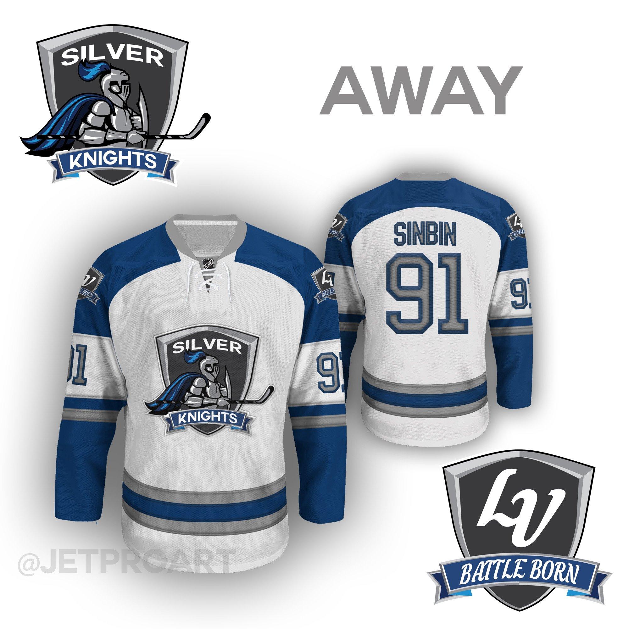 release date a5d68 9bde7 Las Vegas Silver Knights Jersey Concept - SinBin.vegas