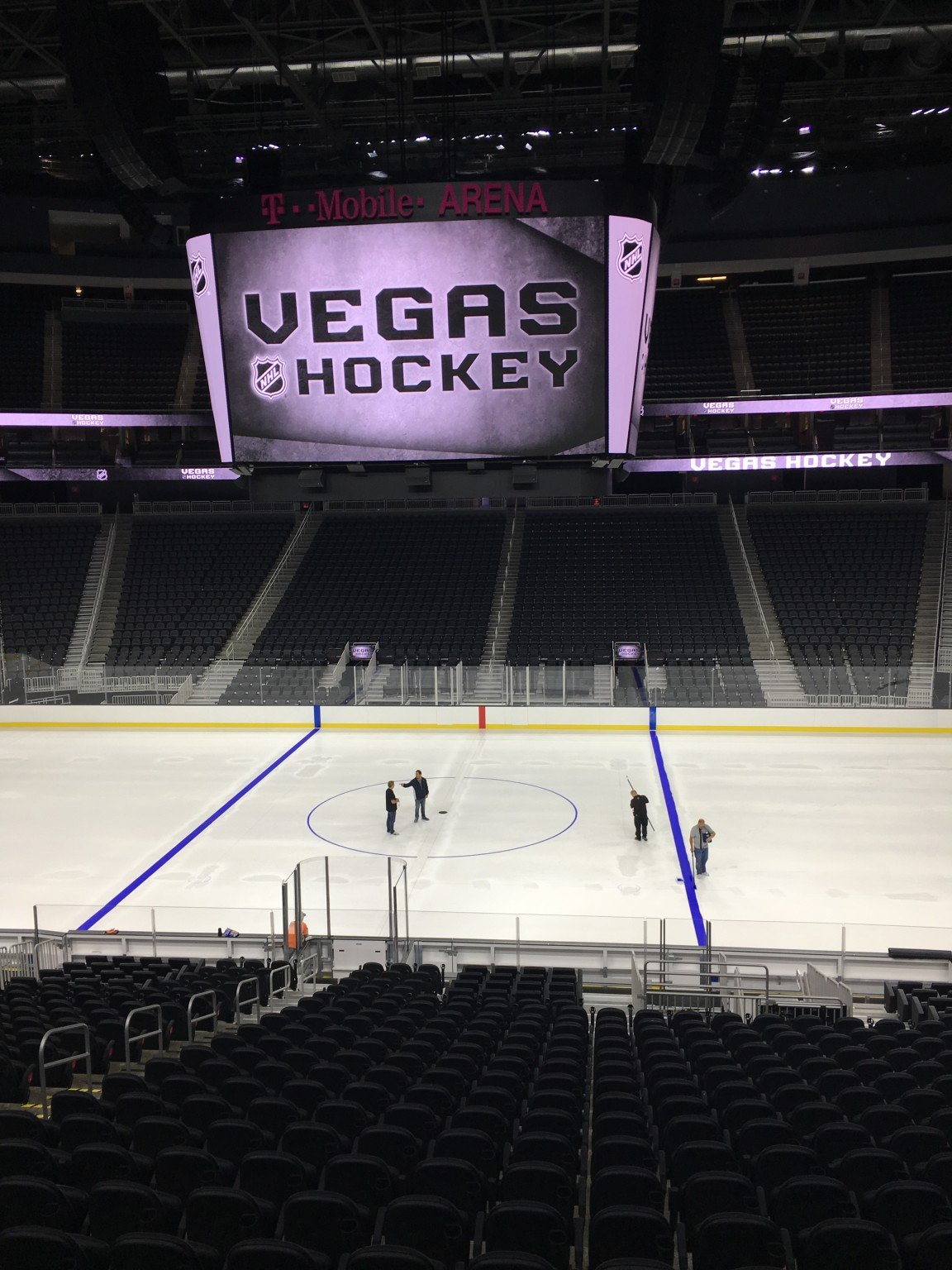 T Mobile Arena Lays Ice For The First Time Pictures Videos And