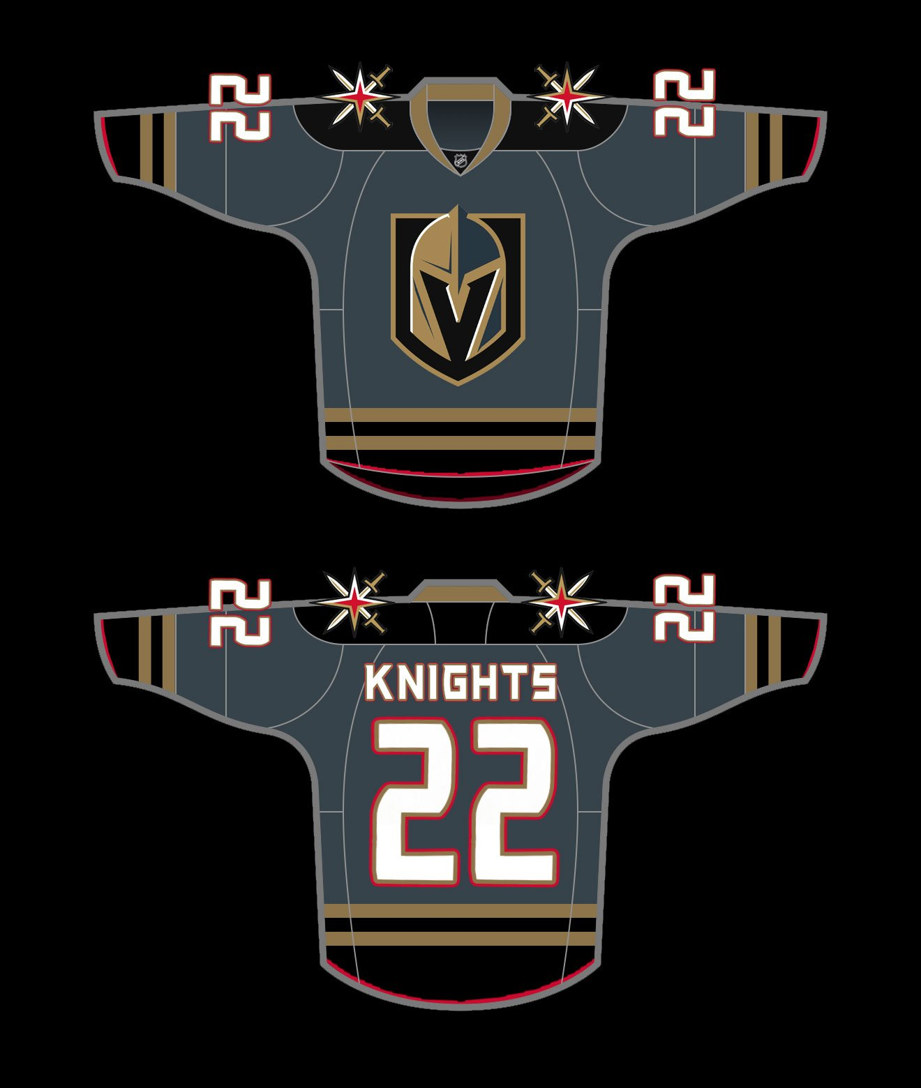 more photos a8ace 1e08d Vegas Golden Knights Jersey Concepts - SinBin.vegas