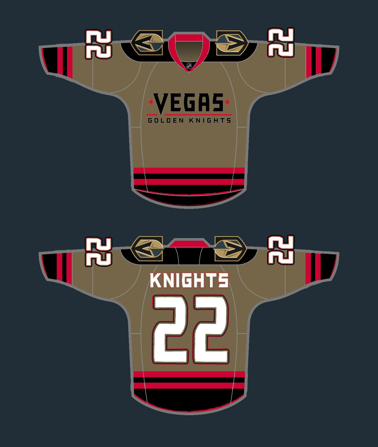 vegas-golden-knights-concept-alt3. The first two are about as close as we  can come to what we ve seen described. The final three are just us playing  around ... a30c7f981