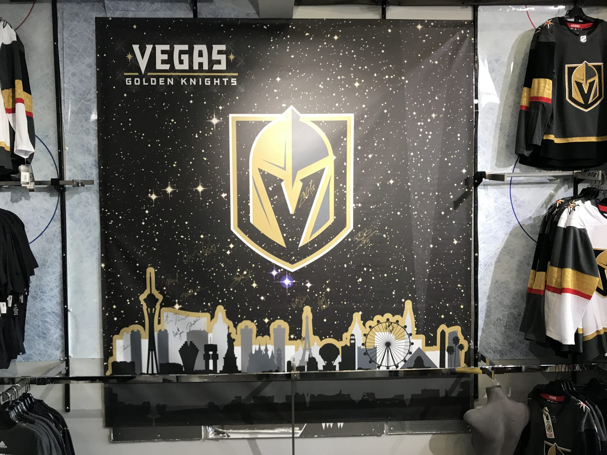 promo code ce292 f9a33 Bid On Signed Vegas Golden Knights Banner For Charity ...