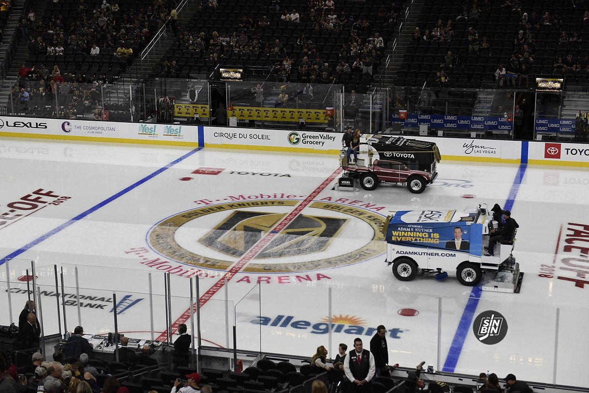 Despite Tough Conditions T Mobile Arena S Ice Is Always Top Notch